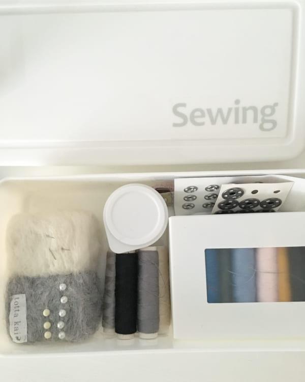 裁縫道具収納 ダイソーの粘土ケース