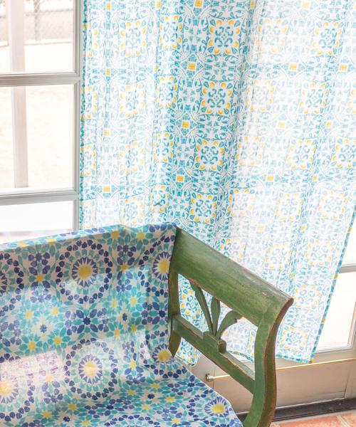 [チャイハネ] 【チャイハネ】モロッコタイル柄カーテン