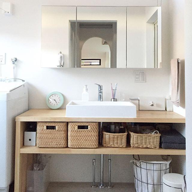 洗面所やユーティリティルームの収納に