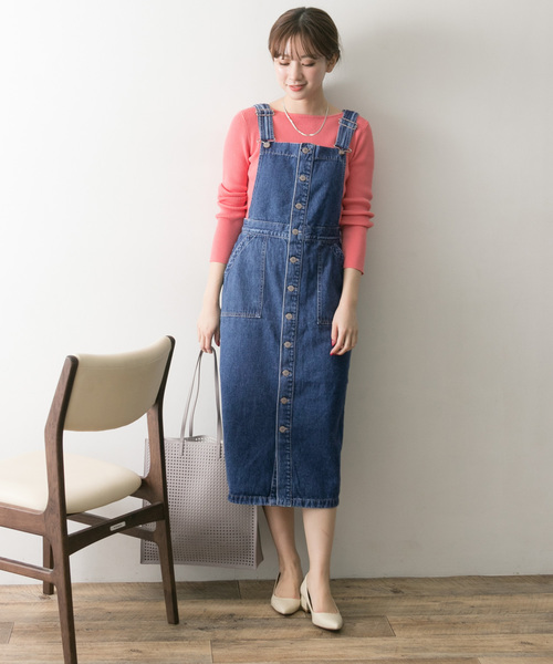 [URBAN RESEARCH] SOMETHING×URBAN RESEARCH 別注BOTTON UP JUMPER SKIRT