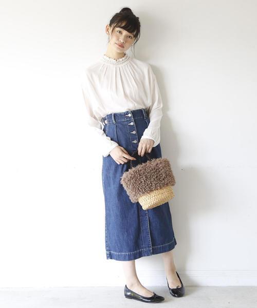 [coen] 【追加生産】USAコットンデニムロングスカート