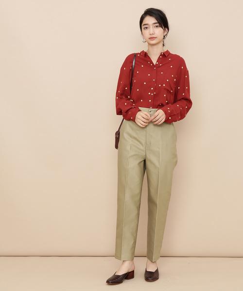 [ADAM ET ROPE'] 【sacrecoeur】 Dot/Flower print shirt