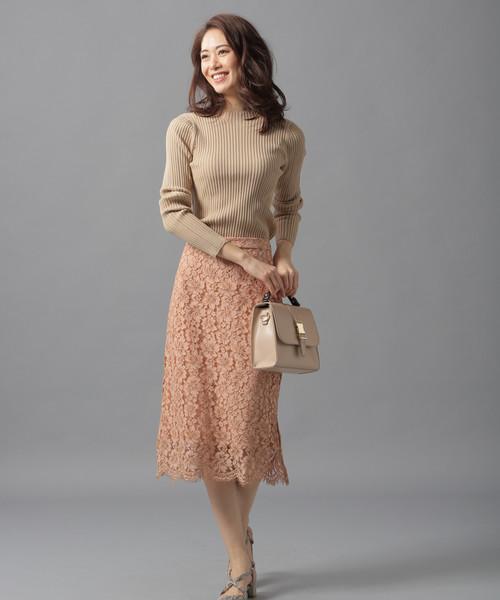 [Andemiu] ミディレースタイトスカート818774