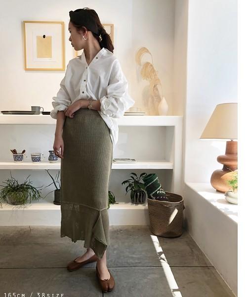 [TODAYFUL] リネンニットスカート