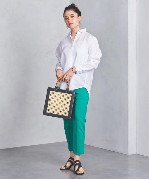 リネン レギュラーカラー シャツ