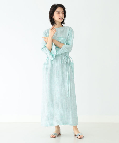 [BEAMS WOMEN] Demi-Luxe BEAMS / 2WAY リネンワンピース