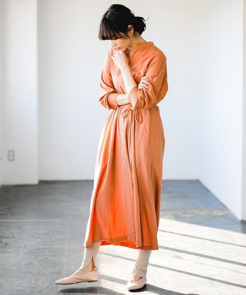 オレンジワンピース
