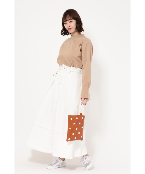 [ROSE BUD] (ROSE BUD) フレアデニムスカート