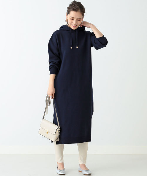[BEAMS WOMEN] BEAMS LIGHTS / WEB限定 パーカー ワンピース