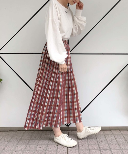 [one after another NICE CLAUP] 【ZOZOTOWN限定】プリーツロングスカート