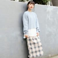《ワッフル素材トップス&スカート》で春らしさをアップ☆大人のオフコーデをお届け!