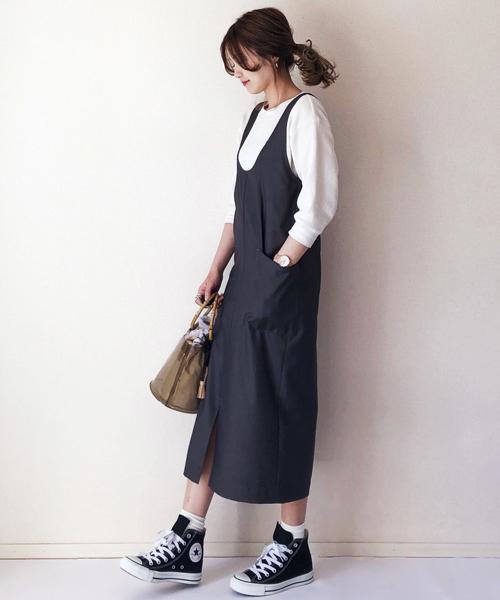 [AZUL ENCANTO] 【手洗いできる】【消臭効果】ロングジャンパースカート