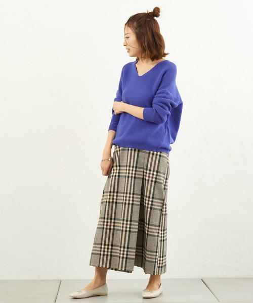 [CIAOPANIC TYPY] フランダースリネンチェックIラインスカート