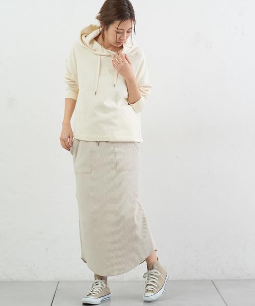 [CIAOPANIC TYPY] 変形リブIベイカースカート