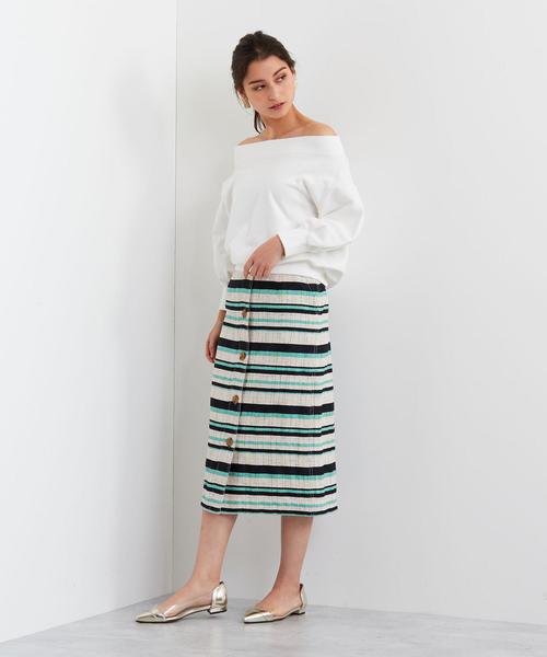 [EMMEL REFINES] 【EMMEL REFINES】SMF ツイードボーダーIラインスカート