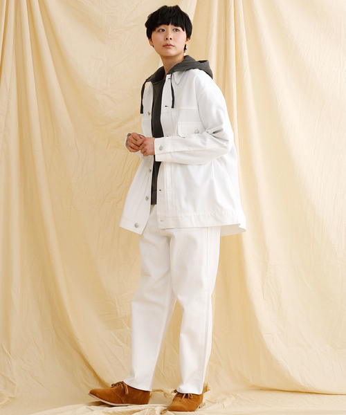 [merlot] オーバーサイズデニムジャケット