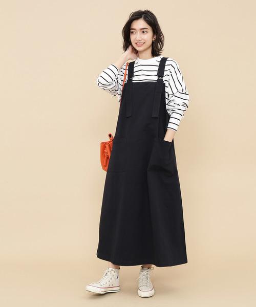 [ADAM ET ROPE'] 【WEB限定】Dカン付ジャンパースカート