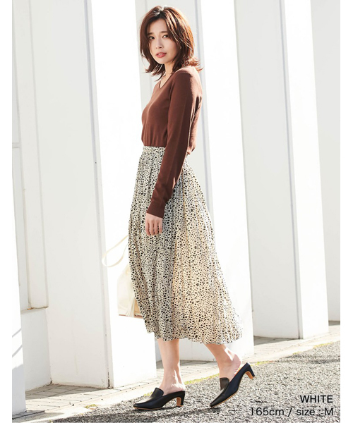 [Re:EDIT] ランダムドットニュアンスプリーツスカート