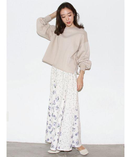 花柄切替スカート