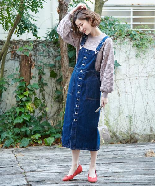 [ROPE' PICNIC] 【WEB限定】デニムジャンパースカート