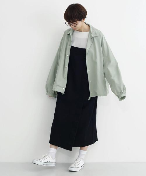 merlot 裾ドロストコーチジャケット3106