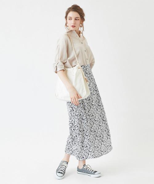 [titivate] リトルフラワーセミフレアロングスカート