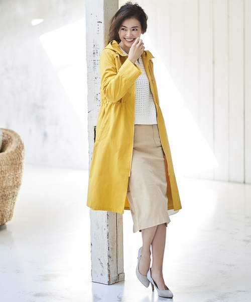 [M.deux] チノロングタイトスカート