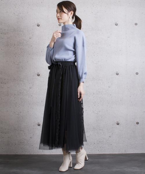[COLLARS] 【Jewelobe/ ジュエローブ】 チュール×レースゴアードスカート