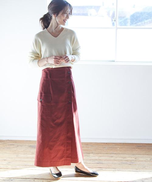 [ViS] 【WEB限定】ラップチノスカート