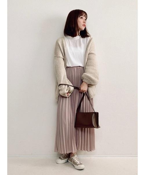 [La-gemme] プリーツロングスカート