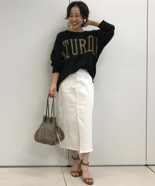 モノトーンコーデ【スカートスタイル】5