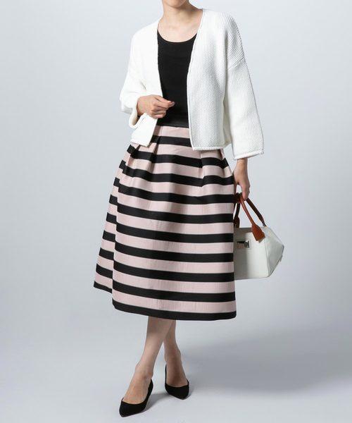 [DOUBLE STANDARD CLOTHING] Sov. 長高密度ジャガードボーダースカート
