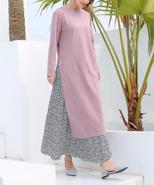 [Futierland&SASA] 小花柄プリーツロングスカート