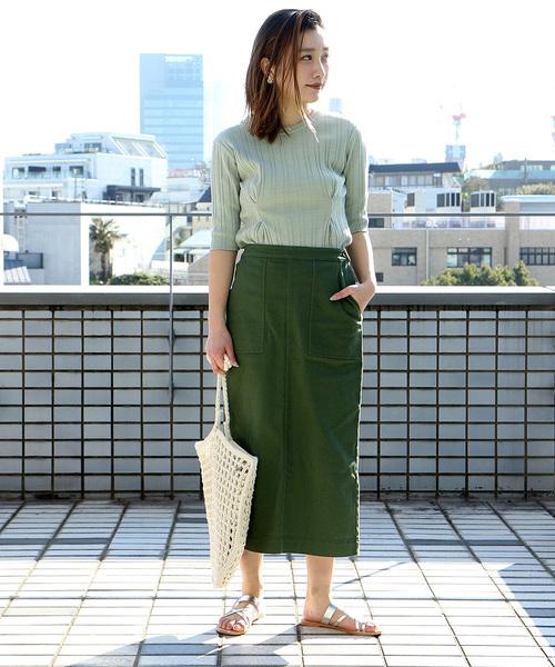[FREAK'S STORE] 【WEB限定】コットンストレッチタイトスカート