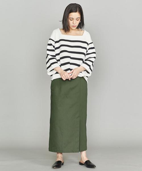 チノフロントスリットタイトスカート