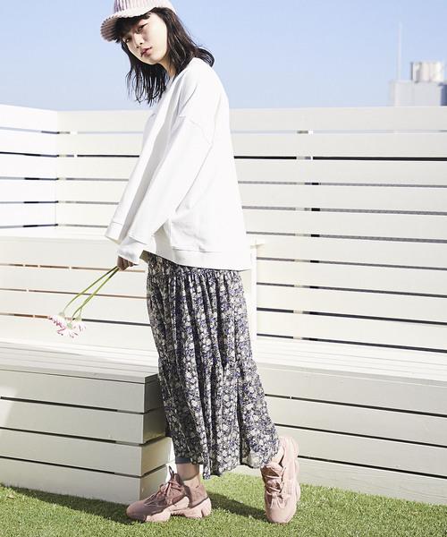 [tocco closet] 花柄ティアードスカート