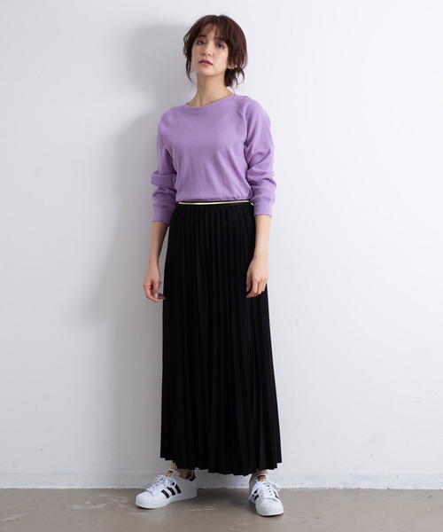 [YARD PLUS] AUNT MARIE'S カノコプリーツマキシスカート