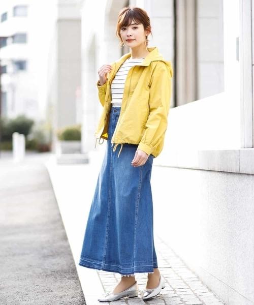 マウンテンパーカー×スカート16