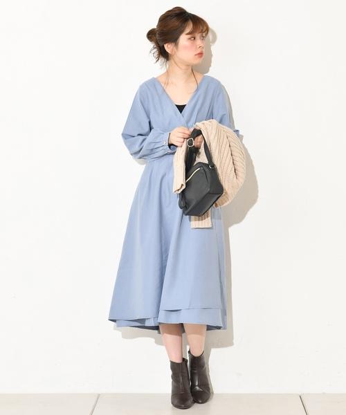 [natural couture] レディカシュクールワンピース