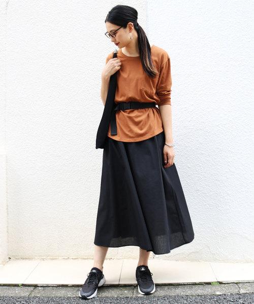 [and Me(アンドミー)] 軽やかフレアスカート