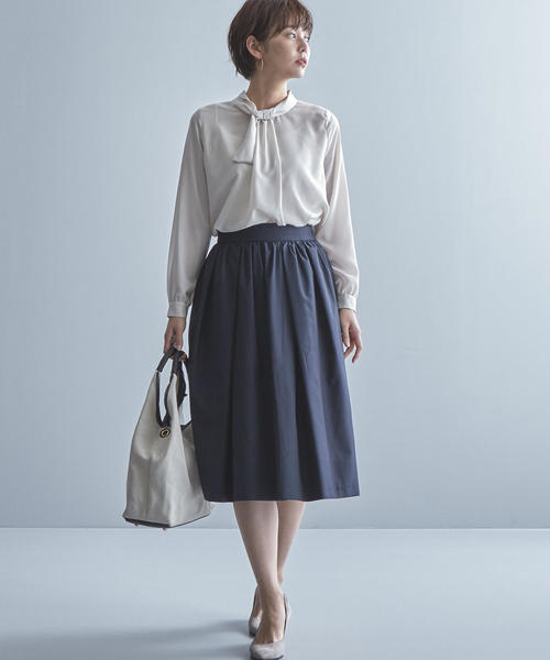 [green label relaxing] 【WORK TRIP OUTFITS】CS ボウタイ ブラウス