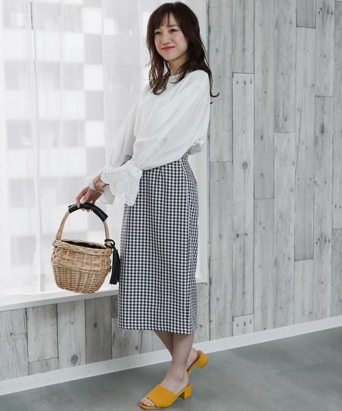 [clear] 【ZOZO先行】ギンガムチェックタイトスカート
