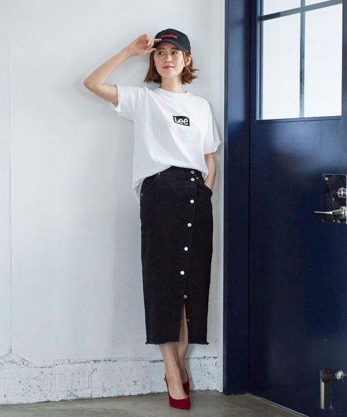 [Lee SHOP] ボタンスリット スカート