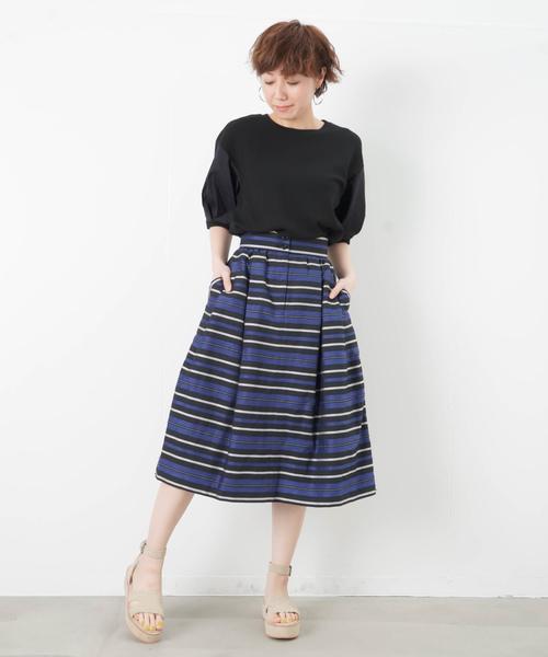 [LUCA/LADY LUCK LUCA] LC/LLL マルチボーダースカート