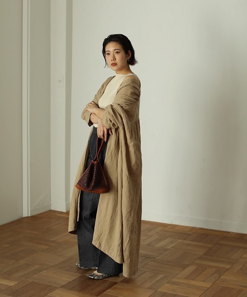"""[CANAL JEAN] TODAYFUL(トゥデイフル) """"Linen Gather Gown""""リネンギャザーガウン"""
