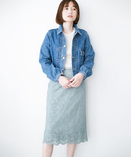 [haco!] いつものトップスを華やかに見せてくれるレーススカート