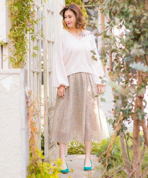 小花柄スカート12