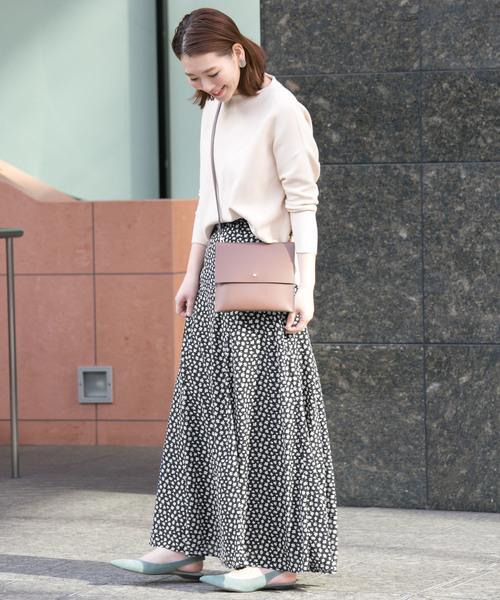[URBAN RESEARCH ROSSO WOMEN] 小花柄ロングスカート