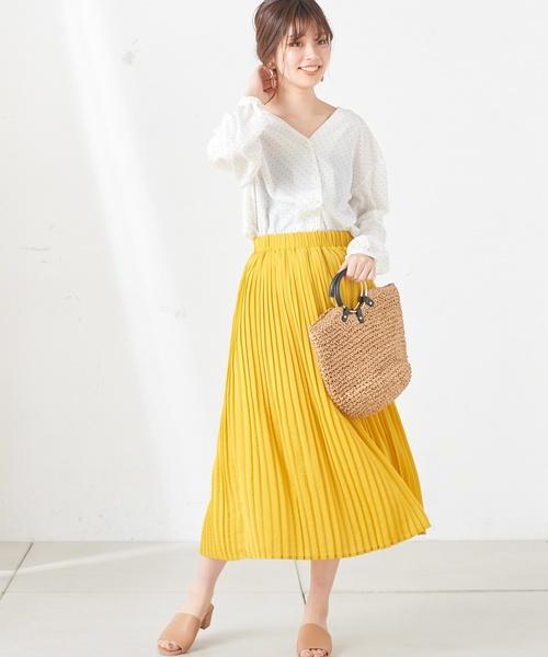 [natural couture] マットサテン消しプリーツサテン