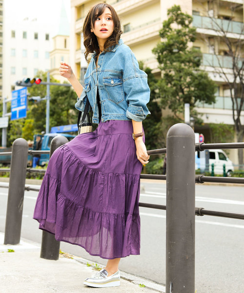 [Fashion Letter] コットンティアードスカート
